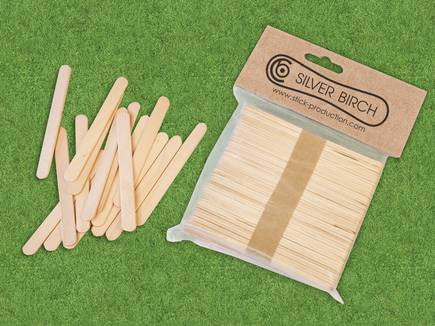 1000 Green Standard Size Wood Craft Sticks Colored Popsicle Stick