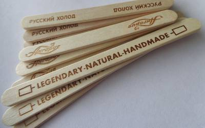 114 mm ice cream stick bundled milled custom logo