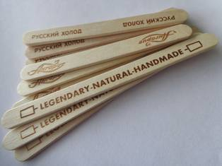 ice cream stick bundled milled custom logo