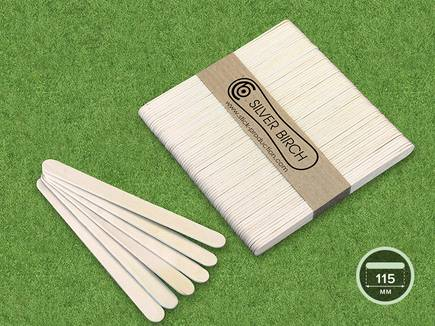 Wooden coffee stirrers bundled